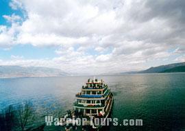 Erhai Lake and Cangshan Mountain, Dali.