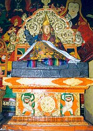 Tibetan Buddhism - Statue of the 9th Dalai Lama in Lhasa