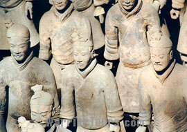 Figures of Terra Cotta Army, Xian, China