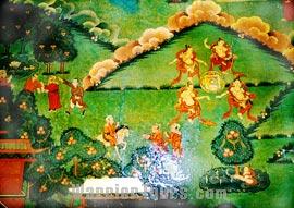 Murals in Shalu Monastery, Shigatse, Tibet