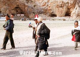 Tibetan people in local costume