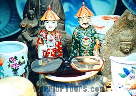 Porcelain figures of Qing Dynasty, Ancient Ming and Qing Streets, Pingyao, Shanxi