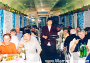 The dining car of a train, China travel