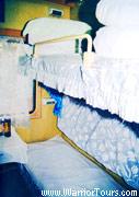 Soft-sleepers on a train, China