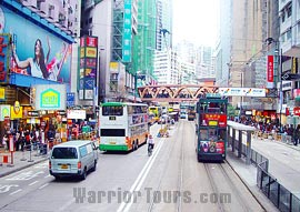 Street scene of Hong Kong city