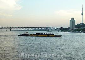 Yangtze River running through Wuhan