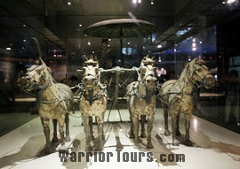 Bronze Chariots and Horses in the Exhibition Hall