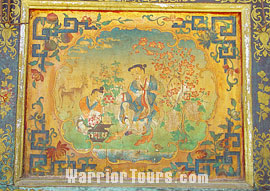 fine murals on the wall of Norbulingka