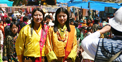 Traditional costumes of Bhutan