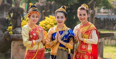 Traditional Laos Costume